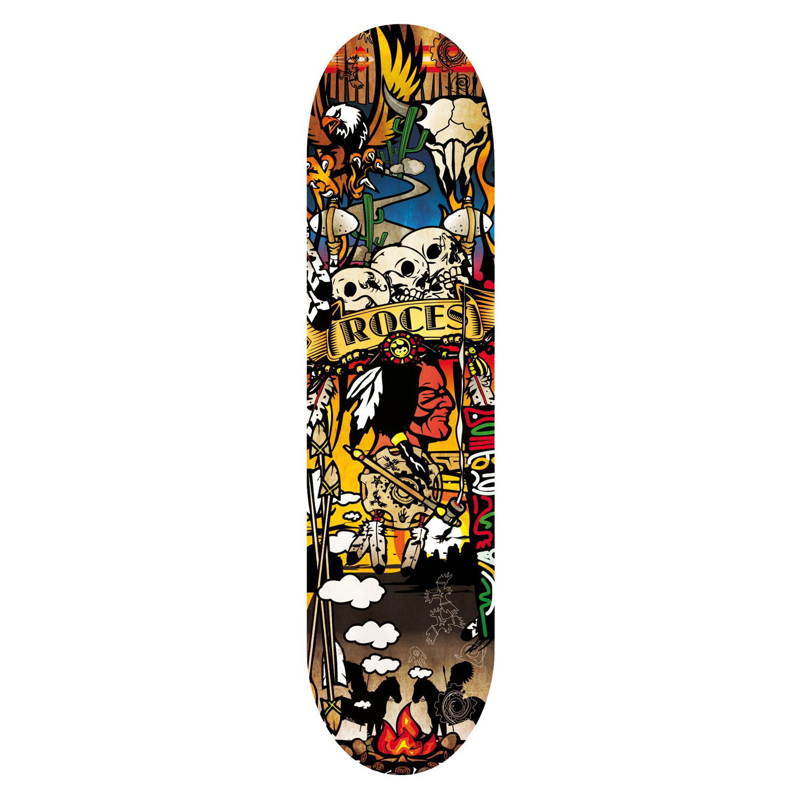 SKATEBOARD ROCES INDIAN